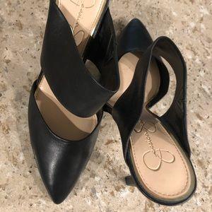 Black Jessica Simpson Mule Heels